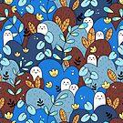 «patrón de compañero azul + marrón» de Calista Douglas