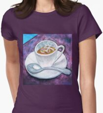 Espresso coffe cup Womens Fitted T-Shirt