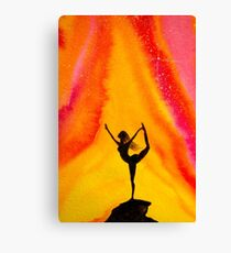 Sunrise Yoga Canvas Print
