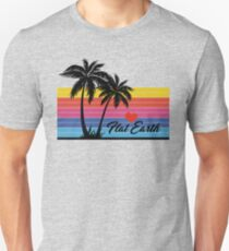 Flat Earth Designs - FLAT EARTH Love PALM TREE surf SURFER excellent T-Shirt