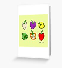 Colorful Bell Peppers Greeting Card