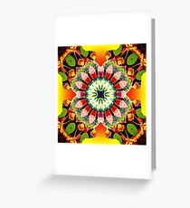 Glowing Mixed Media Mandala Greeting Card
