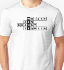 Crosswords: All paths lead to Wine (black text) Unisex T-Shirt