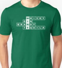 Crosswords: All paths lead to Wine (white text) Unisex T-Shirt