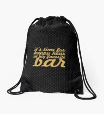 It's time for... Gym Motivational Quote Drawstring Bag