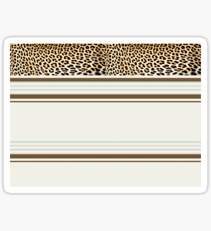 Lodge décor - Leopard fantasy Sticker