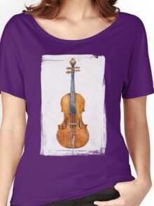 Violin (watercolor on textured background) Women's Relaxed Fit T-Shirt