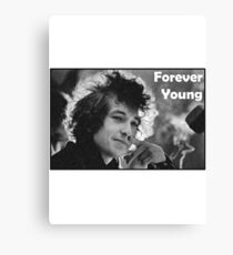 """Bob Dylan T-Shirt """"Forever Young"""" Canvas Print"""