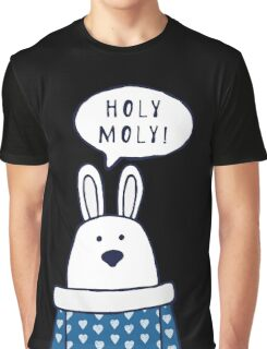 """Funny rabbit says """"Holy moly!"""" Graphic T-Shirt"""