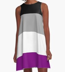 Asexual Pride Flag A-Line Dress