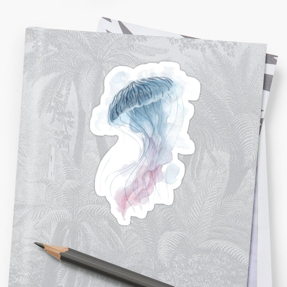 Aquarell-Quallen Sticker