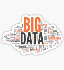 Pegatina big data orange cloud