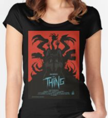 The Thing Classic Retro Poster Women's Fitted Scoop T-Shirt