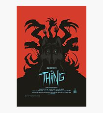 The Thing Classic Retro Poster Photographic Print
