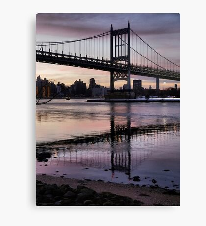 Winter Horizon - RFK Triborough Bridge Canvas Print
