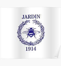 Jardin french bee Poster