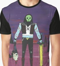 Skull Face in Colour Graphic T-Shirt
