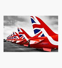 Red Arrows Tails Photographic Print