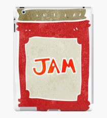 retro cartoon jam jar iPad Case/Skin