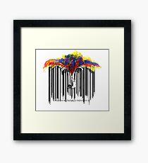 unzip the colour wave Framed Print