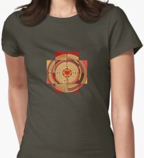 my heart in a labyrinth Women's Fitted T-Shirt
