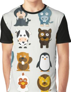 Funny Animals Collection Graphic T-Shirt
