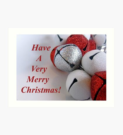 Jingle Bells Text Art Print
