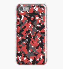 Red camo iPhone Case/Skin