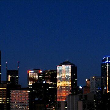 Melbourne Skyline by colm
