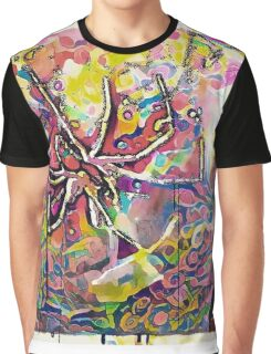 Psychedelic Spider Graphic T-Shirt