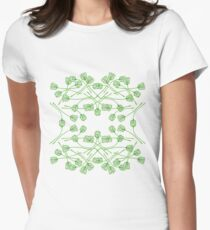 Green Tulip Kaleidoscope Women's Fitted T-Shirt