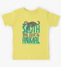 Sloth Is My Spirit Animal Kids Tee