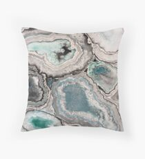Ode To Geode - Blue/Teal Throw Pillow