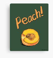 Peach! Canvas Print