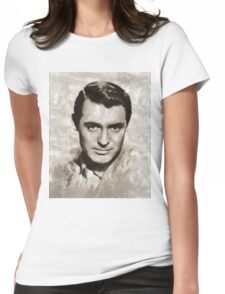 Cary Grant, Vintage Hollywood Actor Womens Fitted T-Shirt