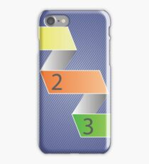 Minimal style infographic template iPhone Case/Skin