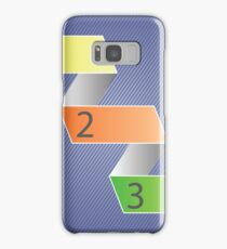Minimal style infographic template Samsung Galaxy Case/Skin