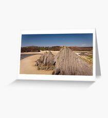 Three Cliffs Bay Gower Swansea Greeting Card