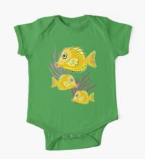 Yellow Tang Tropical Fish One Piece - Short Sleeve
