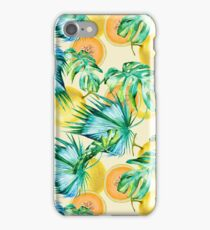 Leaf and melon pattern iPhone Case/Skin