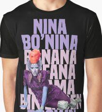 NINA BO'NINA (BANANA FOFANA OSAMA BIN LADEN) BROWN Graphic T-Shirt