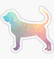 Bloodhound Dog Breed Geometric Silhouette Pastel Sticker