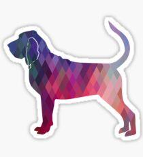 Bloodhound Dog Breed Geometric Silhouette Pink Sticker