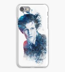 Matt Smith - Doctor Who #11 (white) iPhone Case/Skin