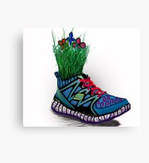 grass shoes  Canvas Print