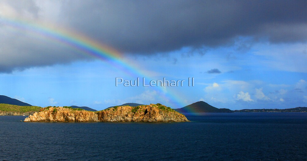 Rainbow in Antigua by Paul Lenharr II
