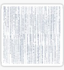 matrix pattern Sticker