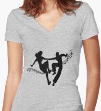 swing dance society Women's Fitted V-Neck T-Shirt