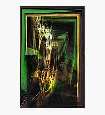 Awsome Iguana Abstract fractal Photographic Print