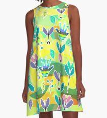 Happy pattern A-Line Dress